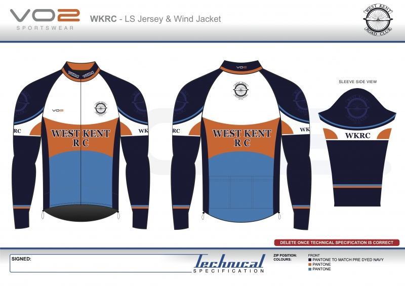 V2-251 - West Kent Cycling Club-LS Jersey and Wind Jacket