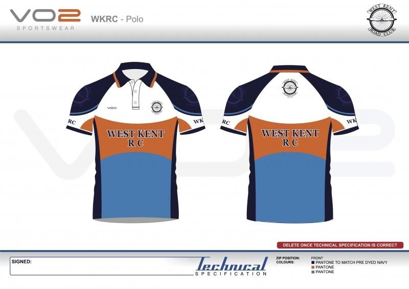 V2-251 - West Kent Cycling Club-Polo Shirt 1