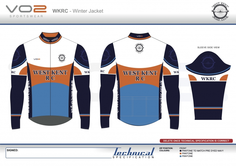 V2-251 - West Kent Cycling Club-Winter Jacket